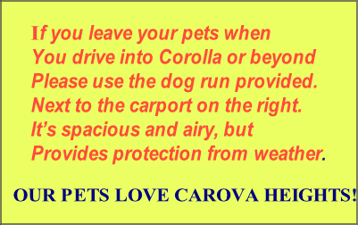 If you leave your pets when